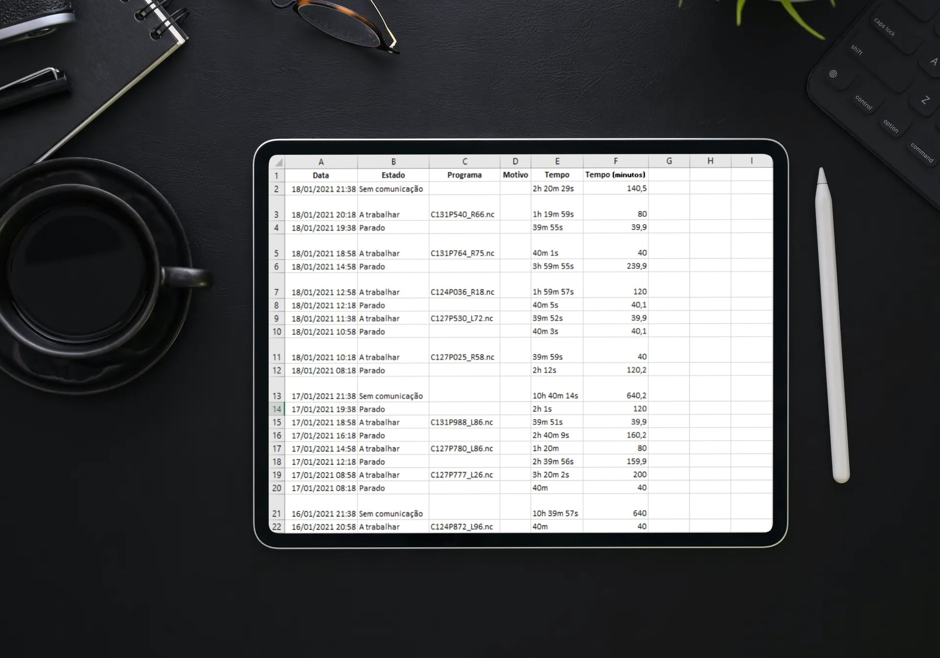Histórico Excel